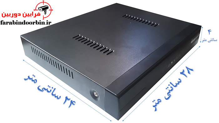 اندازه دستگاه DVR